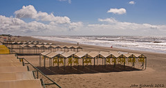 Beach Huts, Early Morning, Corilo. (john.richards1) Tags: sea sky cloud argentina clouds sand nikon sigma d80 corilo