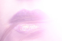 magenta (amayizm) Tags: pink light white glitter hair golden soft purple pastel magenta lips gliersoul