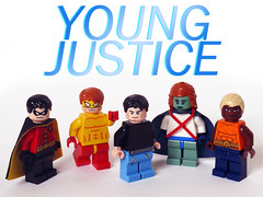 Young Justice (Oky - Space Ranger) Tags: robin justice dc kid team lego flash young megan super heroes minifig custom miss universe superboy martian purist aqualad