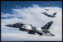 AGRS (jderden77) Tags: airplane fighter exercise aircraft aviation military jet camo f16 viper airtoair redflag nellis generaldynamics aggressor fightingfalcon derden 64thagrs