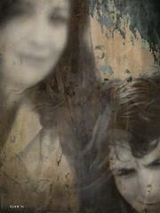 Blue (Gianmario Masala) Tags: portrait people painterly blur milan face closeup photomanipulation photoshop photo artwork emotion photos expression milano emo blurred exhibition textures photograph processing cracked textured masala gianmario gianmariomasala