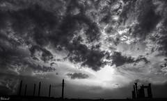 Persepolis. (Behzad No) Tags: sunset sky bw clouds persian iran persepolis fars parseh nikond90 تَختِ جَمشید