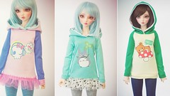 Cyristine Creations : Update today (Cyristine) Tags: ball hoodie clothing doll slim super sd totoro kawaii bjd dollfie msd rilakkuma jointed unoa yosd minifee cyristinecreations