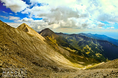 Excursion from Existence (Mihai Sebastian Manole) Tags: light panorama mountains color bird eye clouds creek canon high rocks view natural stones altitude ridge pietre bulgaria munti nori pirin 1635mm stanci altitudine culoare