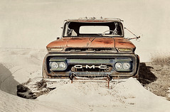snowed in (Harry2010) Tags: winter red snow canada abandoned truck saskatchewan prairies textured pasqua omot