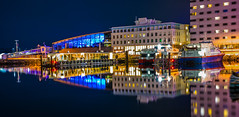 Ferry Terminal (Photography By Robert Young) Tags: new norway ferry buildings hotel nikon january terminal nightshoot trondheim clarion d800 sigmathursday
