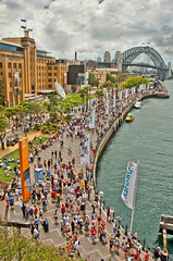City Life (Mariasme) Tags: people crowd sydney fromabove scape mca leadinglines gamewinner matchpointwinner friendlychallenges thesydneyharbourbridge fotocompetition fotocompetitionbronze herowinner australiaday2013 mpt337