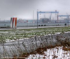 Tauwetter in Kiel #1 (caulius) Tags: schnee winter deutschland ufer kiel schleswigholstein kielerfrde tauwetter