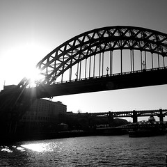 Tyne Bridge (Daisy Swain) Tags: city england blackandwhite silhouette river newcastle riverside steel structure tynebridge northumberland newcastleupontyne sigma1020mm canon60d