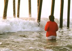 Fernandina 4, 1988 (clarkfred33) Tags: pier surf 1988 splash atlanticocean fernandinabeach soaked redjacket waterspray wetlook wetfun wetclothes whiteshorts wetshorts wateradventure wetjacket funspirit funlady floridafun wetlady wetadventure