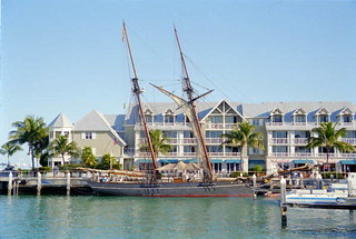 Replica of the slave ship Amistad docked at Ke...