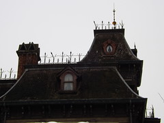 The Rooftop of Phantom Manor (CoasterMadMatt) Tags: park winter paris france rooftop season french photography  foto photographie photos euro disneyland magic hiver january kingdom disney resort photographs theme phantom manor janvier parc franais phantommanor park frontierland magie saison parc thme 2013 magic theme paris euro disney disneyland coastermadmatt disneyland thme