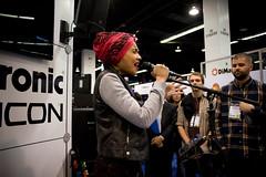 Yuna at TC Electronic (NAMM 2013) (Nazra Z.) Tags: california usa losangeles nikon singer nikkor malaysian namm yuna 28200mm 28200mmf3556g 2013 d700 yunaliszarai