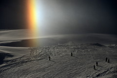 Olympic Sundog (Today is a good day) Tags: light france mountains alps rainbow olympic sundog snowscape valdisere lightscape valdisre