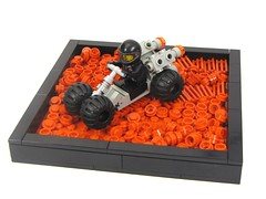 Red Dirt Rover (cmaddison) Tags: red mars lego space rover cart febrovery