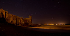 St. Andrews Castle at Night (Conyerss) Tags: sea castle st night zeiss landscape coast long exposure andrews sony carl alpha a65 1680z unaay