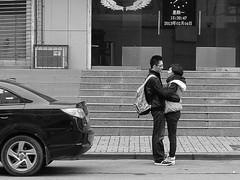 How deep is your love /  (Fear_Through_The_Eyes) Tags: china street travel people bw love blackwhite chinese