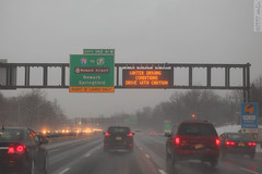 Before the storm (wmliu) Tags: usa storm sign us newjersey highway nj vehicle gsp gardenstateparkway wmliu