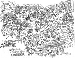 Wildwater Harbor 2012 Map - Ohio Worlds of Adventure (dvn225) Tags: park ohio detail water map drawing cleveland waterslide waterpark 2012 wavepool geaugalake wildwaterkingdom hurricaneharbor worldsofadventure cedarfair aqualoop wildwaterharbor boardwalkshores hurricanehannas