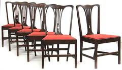 82. Set of 6 Antique Transitional Dining Chairs