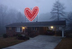 Happy Valentine's Day! (steveartist) Tags: houses homes fog hearts digitalart valentines valentinesday 2013 stevefrenkel ipadart sketchclubapp sonyrx100