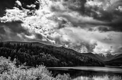 Capilano Lake, Clouds (martincarlisle) Tags: blackandwhite canada mountains monochrome vancouver clouds britishcolumbia lakes northshore capilanolake grousemountain clevelandpark clevelanddam capilanoriver northwestvancouver tamronlenses pentaxk5