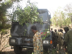 SPLM-N photo showing their soldiers and a vehicle they claim to have seized from the Sudanese army in Mafo in Blue Nile state. Feb 2013 (Sudan Tribune) Tags: military sudan saf bluenile mafo mufu sudanarmedforces splmn