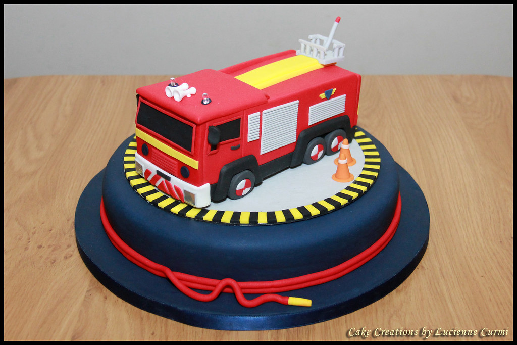 Fire Engine Wedding Cake