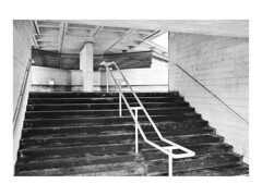 Come up ('Maverick' Marc Le'Strange) Tags: white black london architecture 35mm moody menacing emptiness brutalism
