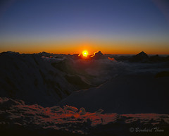 Sundown at Capanna Margherita (Bernhard_Thum) Tags: mountains alps nature berge mountaineering alpen wallis nationalgeographic alpinism fujivelvia50 bergsteigen mamiya7 alpinismus landscapesdreams alemdagqualityonlyclub sekor2880 capturenature