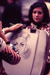 PARIS (F) Sept 1974 pic31 (streamer020nl) Tags: portrait paris france 1974 drawing montmartre parijs portraitiste