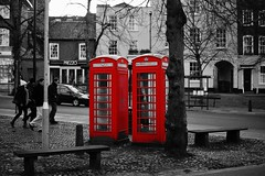 Dying Breed, Tombland, Norwich (Nick Jarvis Photography) Tags: uk england colour phone post norfolk postbox phonebox selective