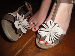 Naked feet and shoes (basang2012) Tags: feet female shoes toes nails barefoot toerings