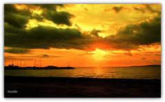 1418  Playa de El Arenal, Palma de Mallorca (Ricard Gabarrs) Tags: sol water puerto atardecer mar agua playa puestadesol olas ricardgabarrus