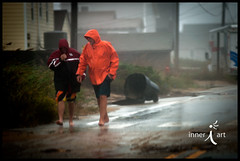 The Hurricane Has Hit (inneriart) Tags: usa storm men boys wet rain walking photography coast utah duck dangerous artist wind unique hurricane fineart creative documentary northcarolina saltlakecity american males poweroutage emergency outerbanks protection journalism eastcoast freelance hoods unitedstateofamerica superstorm inneri hannahgalliinneri nikond300s photoshopcs5 inneriart innereyeart inneri wholehannah hurricanesandy inneriartcom