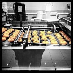Doughnuts (John Oliver Photo) Tags: food hot kitchen photoshop mirror golden krispykreme foodporn sweets doughnuts iphone selectivecolour instagram treatyoself