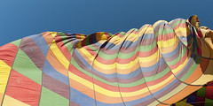 cap12171.jpg (keithlevit) Tags: sky detail horizontal closeup turkey outdoors day pattern middleeast nopeople adventure transportation hotairballoon extremesports multicolored cappadocia goreme nevsehir inflating lowangleview recreationalpursuit centralanatolia