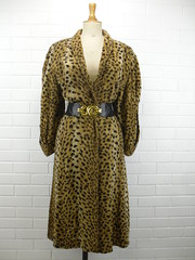 "1980s Dolce & Gabbana Leopard Faux Fur Coat • <a style=""font-size:0.8em;"" href=""http://www.flickr.com/photos/92035948@N03/8549718766/"" target=""_blank"">View on Flickr</a>"