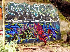 Spayse (all fucking city) Tags: california santacruz abandoned train graffiti bay tunnel pt osh ypn spays