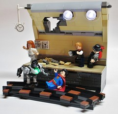 Superman vs. Metallo (Julius No) Tags: man subway lego steel jimmy superman metropolis vs metallo