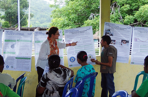 Presentations on climate change adaptations in Batugade, Timor-Leste. Photo by S. Suri, 2013.