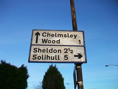 Blue border (co-ophistorian) Tags: sign birmingham roadsign sheldon solihull worboys chelmsley