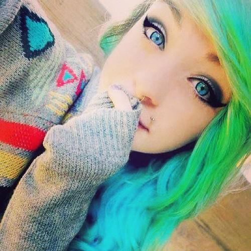 Tumblr girl Emo teen selfie