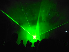 Green Explosion (mikecogh) Tags: green silhouette amazing technology audience performance shapes future heads scifi laser electronica dispersal queenstheatre soundandlight innovative unsound adelaidefestival