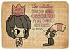 Niño obsoleto (Anita Mejia) Tags: pink cute girl illustration pen ink cat reading sketch cartoon kitty books seuss read doodle kawaii vacaciones comicdiary chocolatita anitamejia springbreac