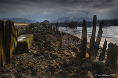 Old Sea Defences (Steve _ C) Tags: seaweed wales docks canon river industrial mud smoke lee barrier filters olddock aberavon giottos 2013 thesundayclub
