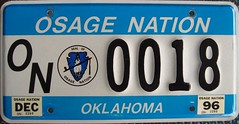 Osage Nation License Plate (Suko's License Plates) Tags: plaque native indian nation band plate tribal licenseplate license tribe placa patente osage targa matricula kennzeichen targhe numbertag nummerschild nativeamericanindians plaqueimmatriculation triballicenseplates indiantribeslicenseplates