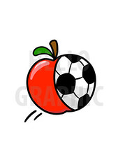 Soccer Apple Cartoon Logo (hellographic) Tags: logo design cartoon mascot identity brand hellographic fiverr