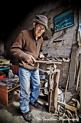 Traditional Cypriot Bladesmith (TheTwinBros) Tags: old portrait man color colour greek march nikon angle traditional wide knife cyprus tokina human paphos knive cypriot 1116 2013 bladesmith lapithos   d7000 tzeratomashero lapithkiotiko