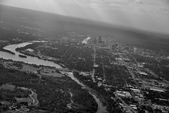 Flying Out and Over Austin (Black & White) (thor_mark ) Tags: airplanewindow airplanewindowview ashtonaustinbldg balconesescarpment balconesfault blackwhite buildings capturenx2edited cities citygridpattern colorefexpro coloradoriver dam day1 downtownbuildings flightaustolax frostbankbldg frostbankbuilding ladybirdlake lake longhorndam lookingoutsideplanewindow lookingwest lookingoutairplanewindow lookingouttheairplanewindow nikond800e planetakingoff planewindow project365 river tallbuildings tallestbuildinginaustin theaustonian townlake travel trees triptomountrainierandcolumbiarivergorge austin tx unitedstates